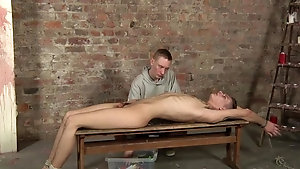 Twink slave Connor Levi has fun with master Ashton Bradley